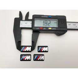Logo BMW M llantas 18mm x 10mm
