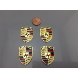 Set 4 Emblemas Porsche Oro