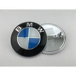 EMBLEMA TRASERO BMW Azul y Blanco Original 78 mm