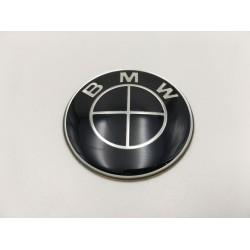EMBLEMA VOLANTE BMW NEGRO 45 mm